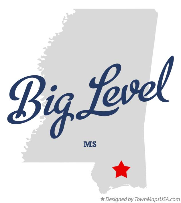 Map of Big Level Mississippi MS