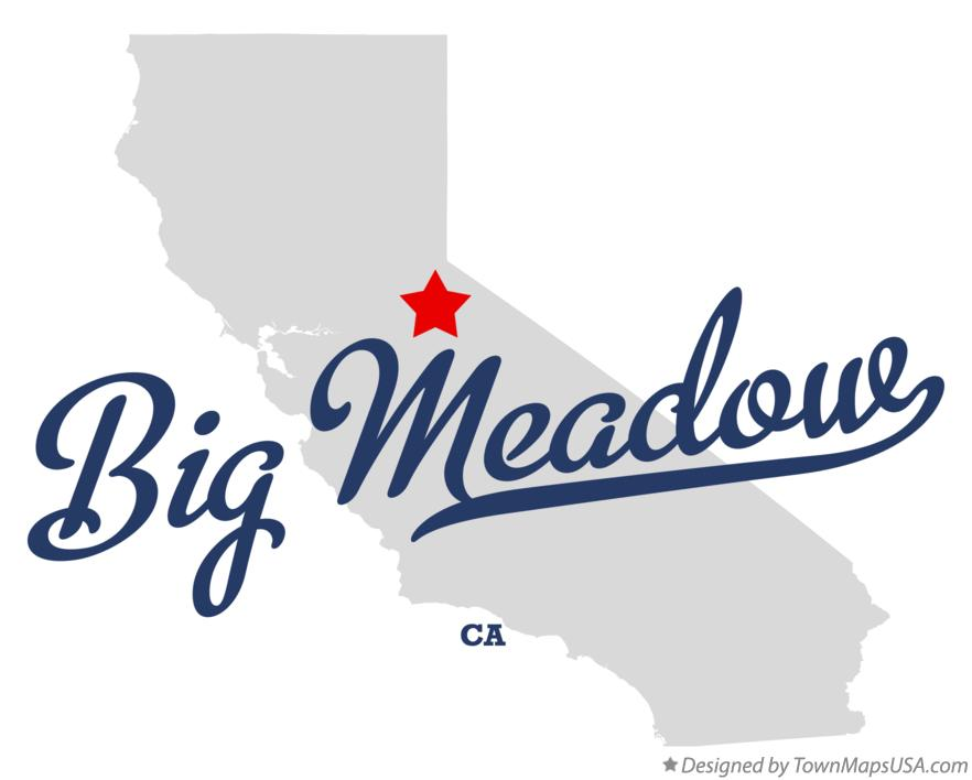 Map of Big Meadow California CA