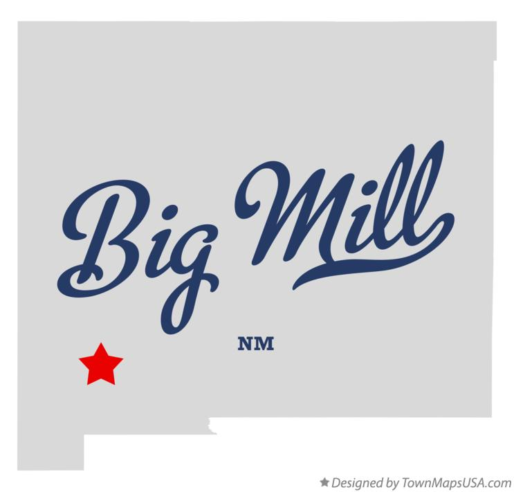 Map of Big Mill New Mexico NM