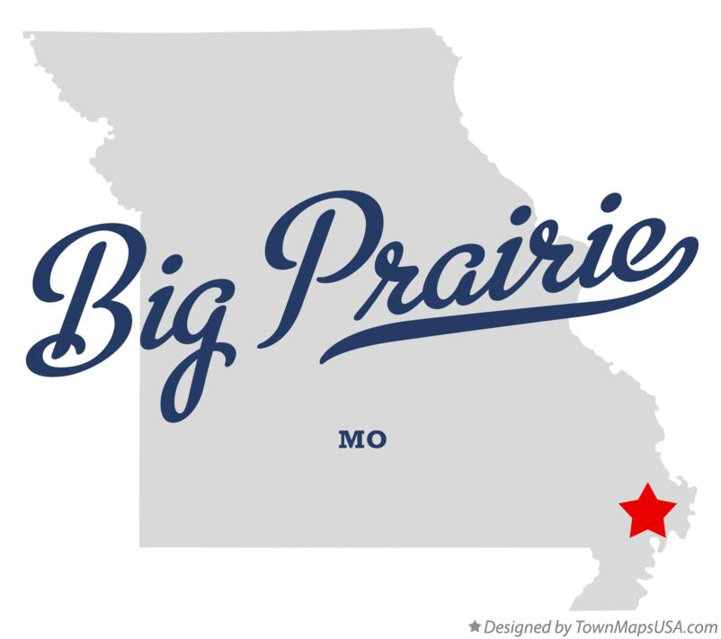 Map of Big Prairie Missouri MO
