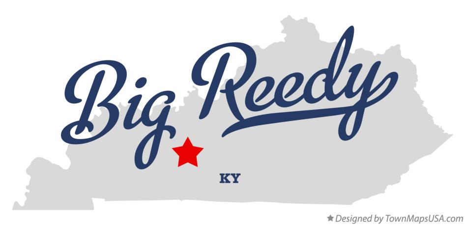 Map of Big Reedy Kentucky KY