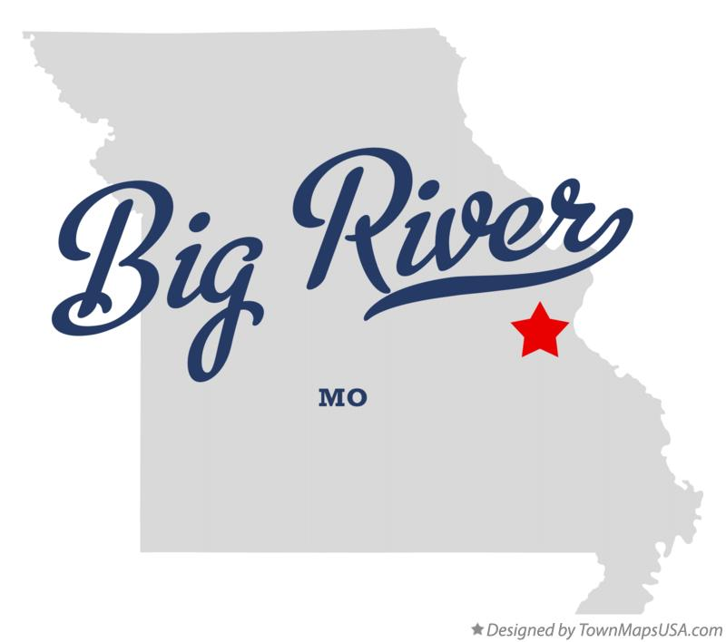 Map of Big River Missouri MO