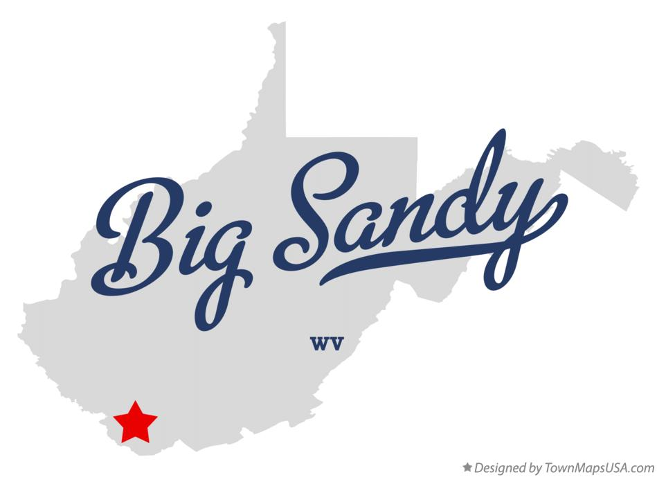 Map of Big Sandy West Virginia WV