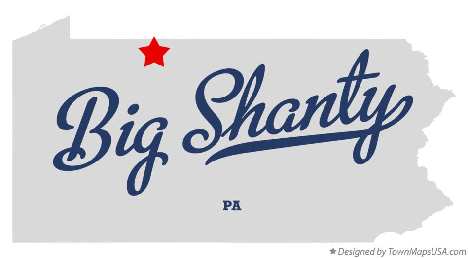 Map of Big Shanty Pennsylvania PA