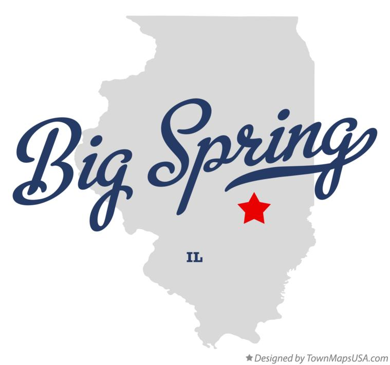 Map of Big Spring Illinois IL
