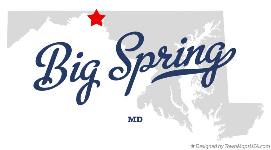 Map of Big Spring Maryland MD