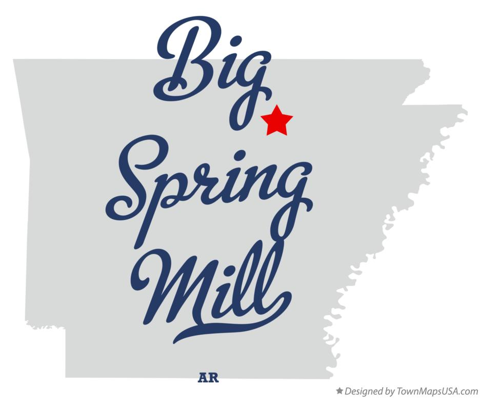 Map of Big Spring Mill Arkansas AR