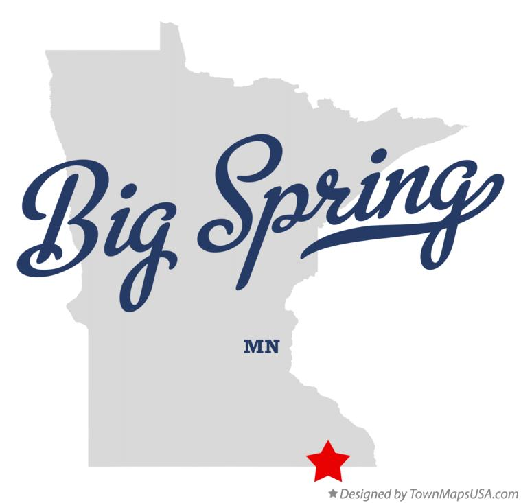 Map of Big Spring Minnesota MN