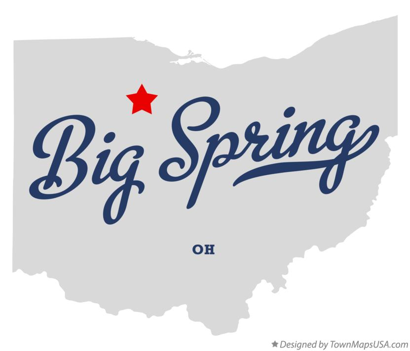 Map of Big Spring Ohio OH