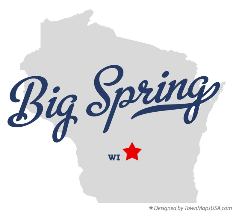 Map of Big Spring Wisconsin WI
