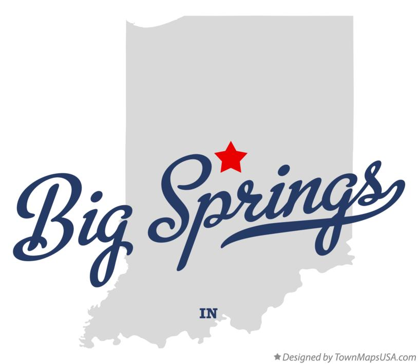Map of Big Springs Indiana IN
