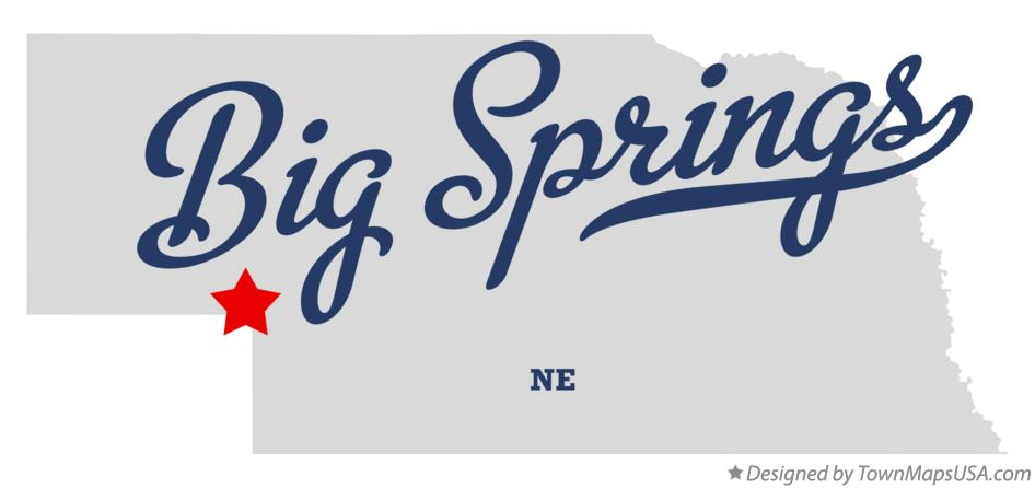 Map of Big Springs Nebraska NE