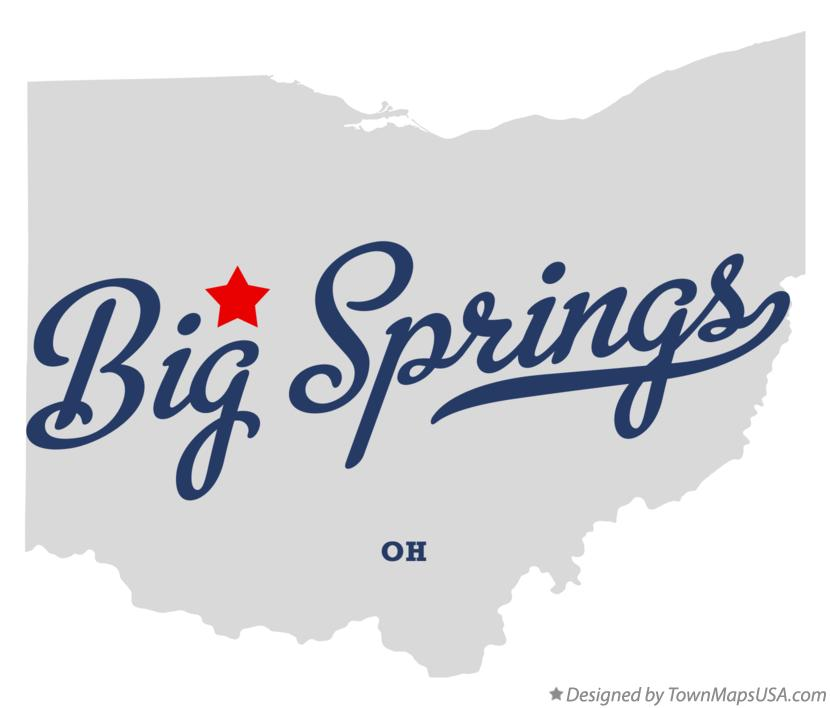 Map of Big Springs Ohio OH