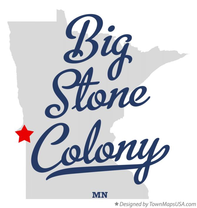 Map of Big Stone Colony Minnesota MN