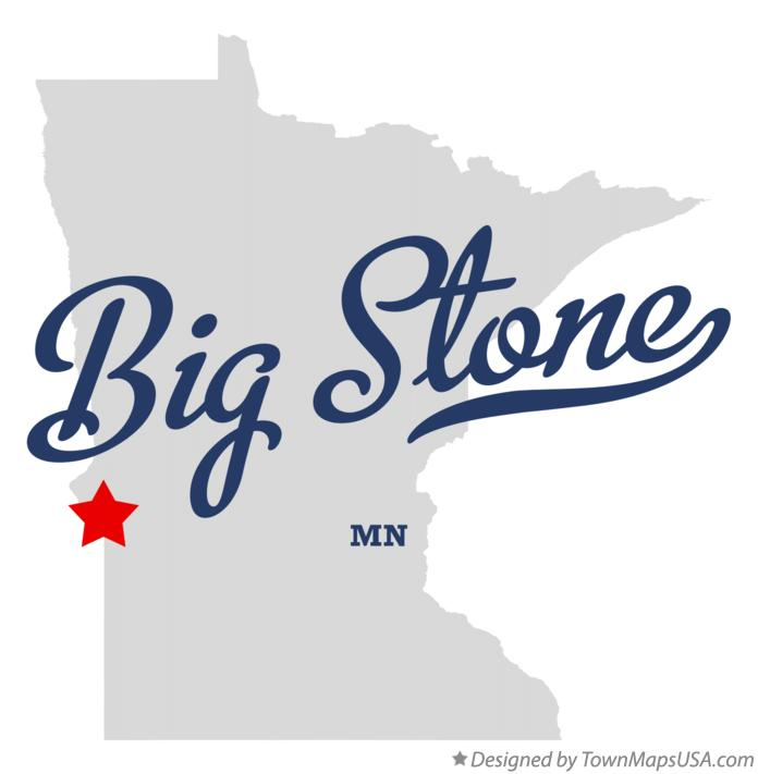 Map of Big Stone Minnesota MN