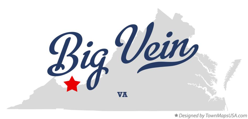Map of Big Vein Virginia VA