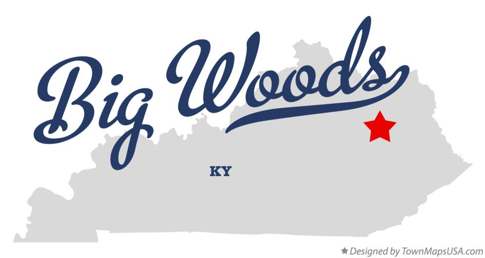 Map of Big Woods Kentucky KY