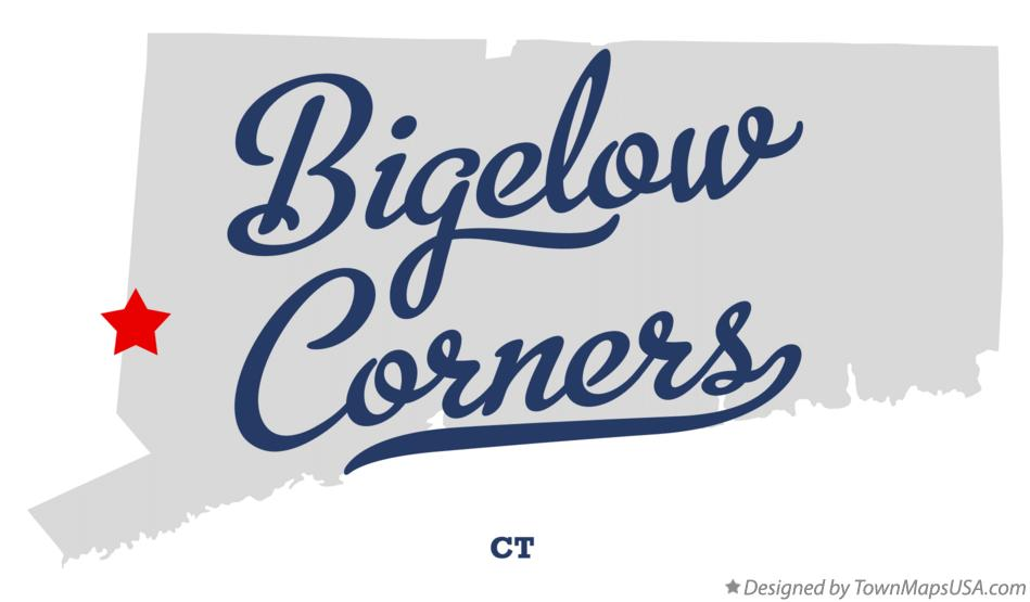 Map of Bigelow Corners Connecticut CT