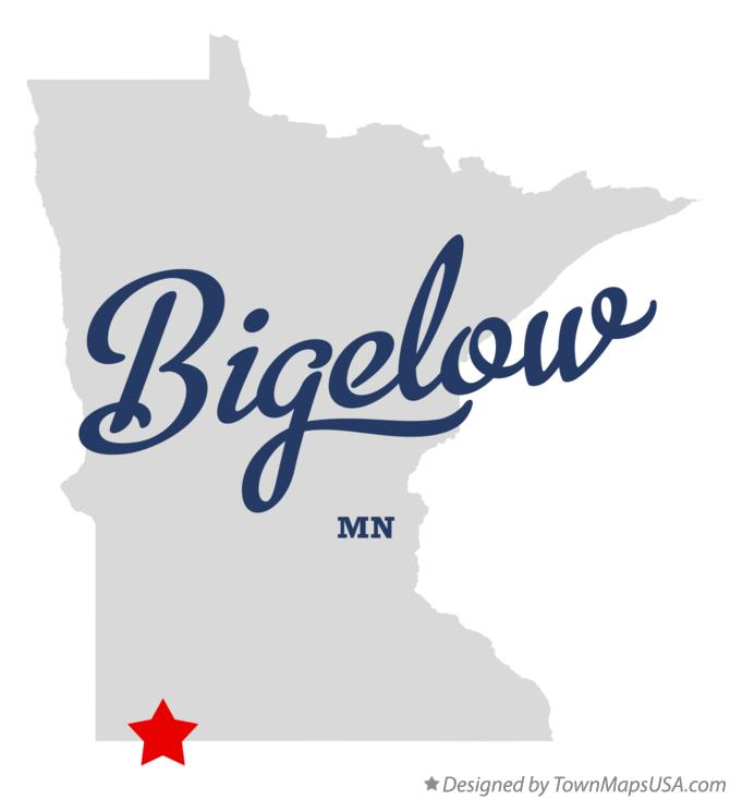 Map of Bigelow Minnesota MN