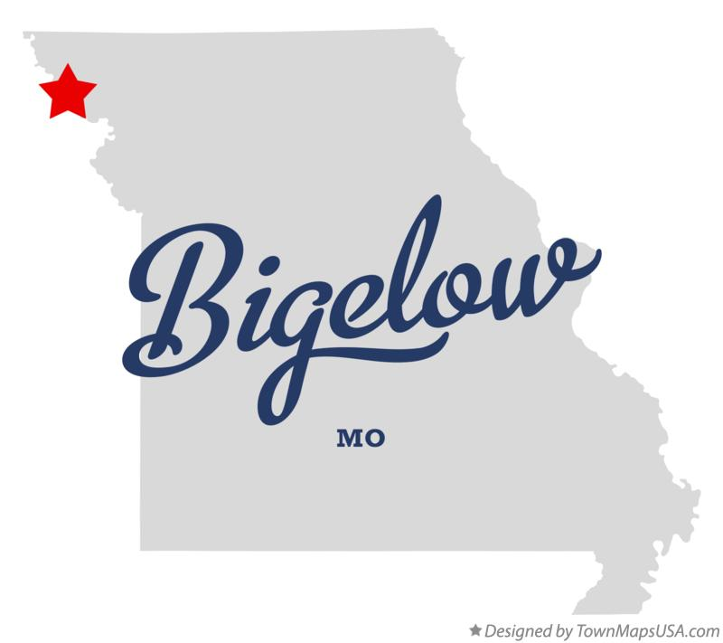 Map of Bigelow Missouri MO