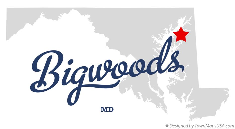 Map of Bigwoods Maryland MD