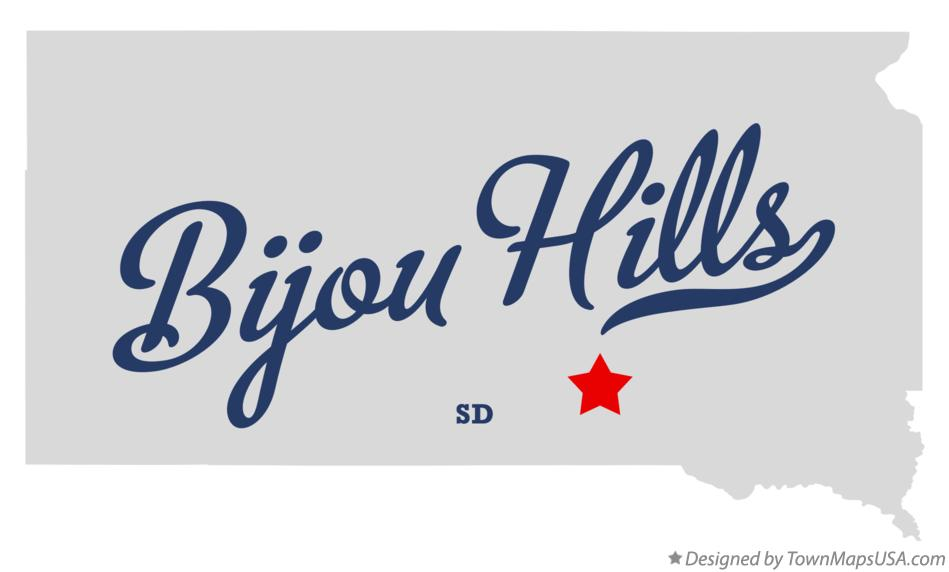 Map of Bijou Hills South Dakota SD