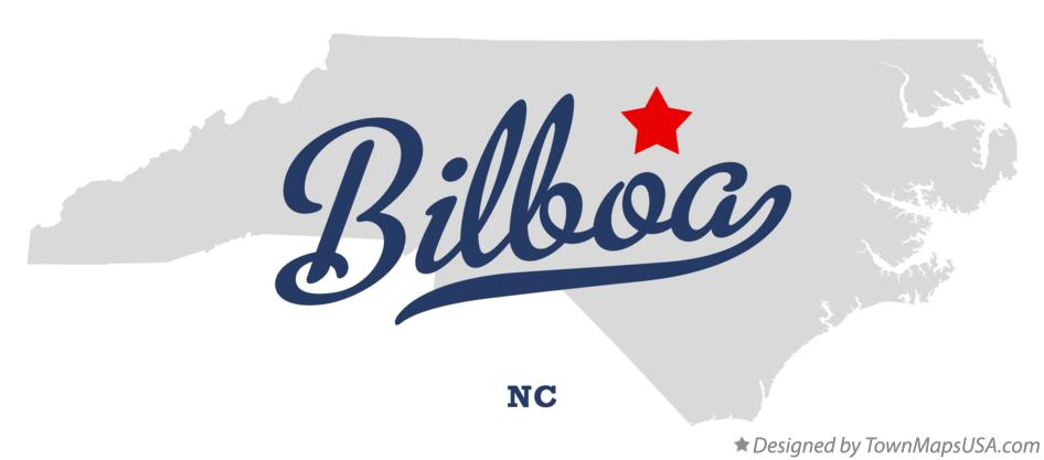 Map of Bilboa North Carolina NC