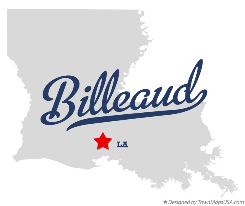 Map of Billeaud Louisiana LA