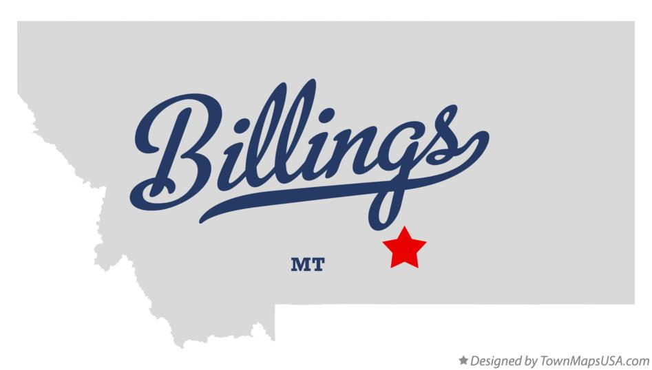 Map of Billings, MT, Montana