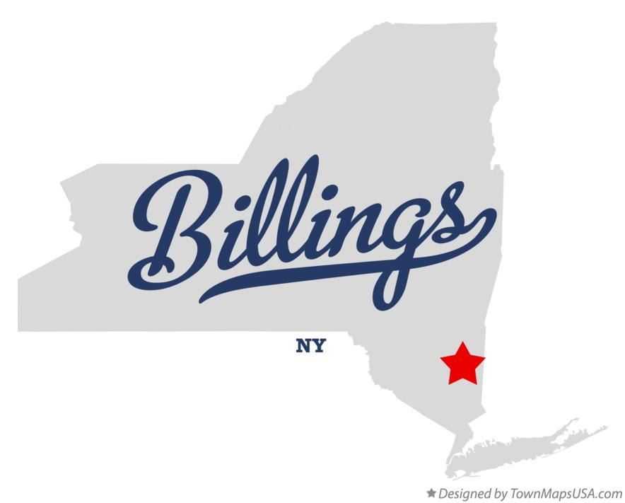 Map of Billings New York NY