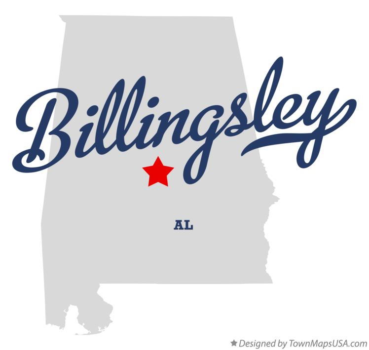 Map of Billingsley Alabama AL