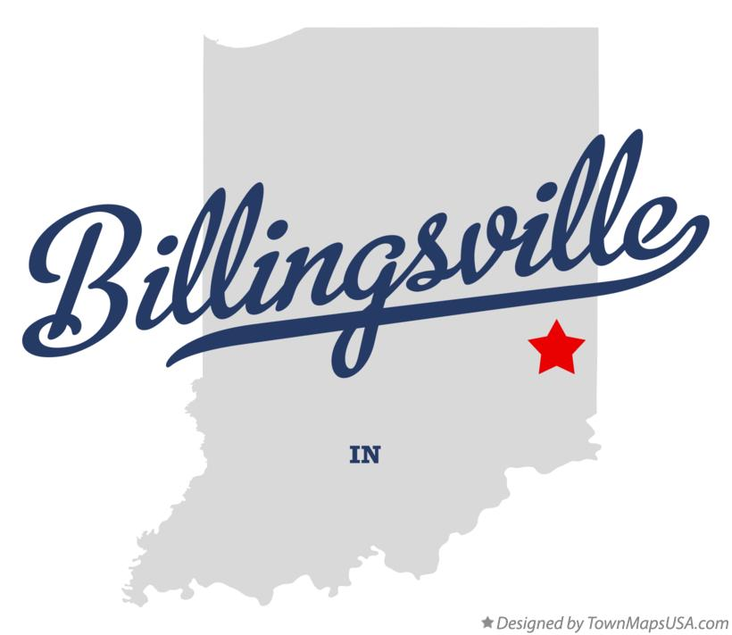 Map of Billingsville Indiana IN