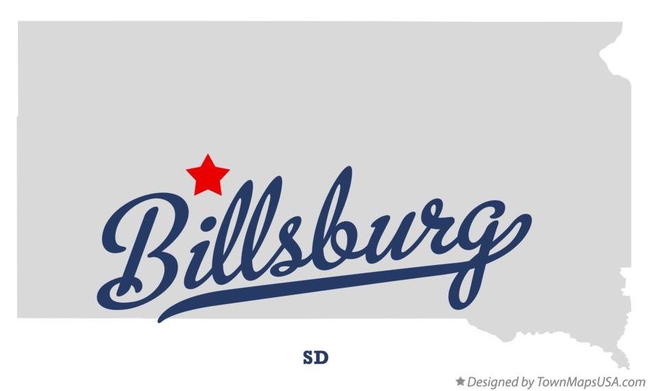 Map of Billsburg South Dakota SD