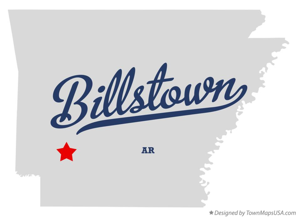 Map of Billstown Arkansas AR
