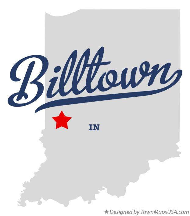 Map of Billtown Indiana IN