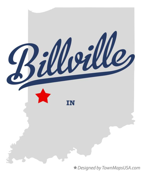Map of Billville Indiana IN