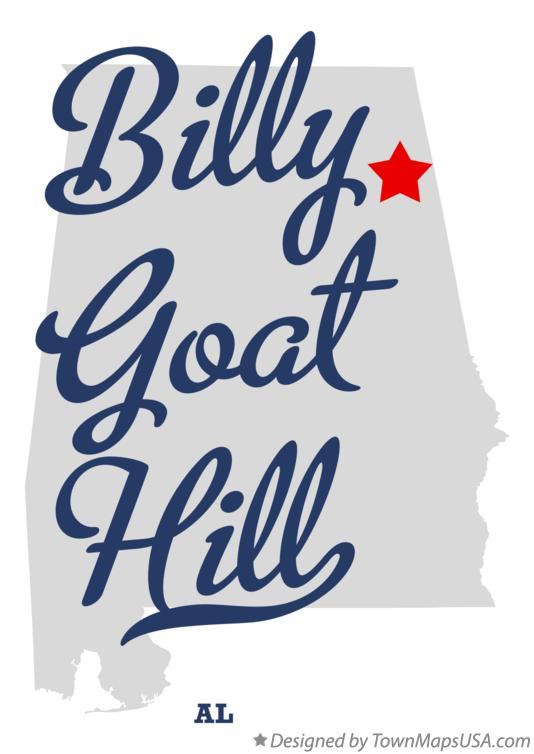 Map of Billy Goat Hill Alabama AL