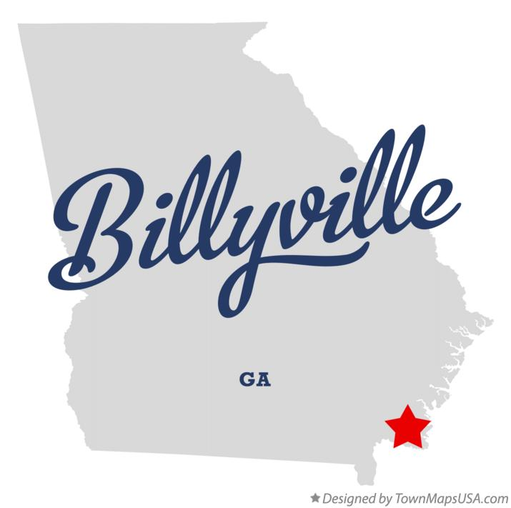 Map of Billyville Georgia GA