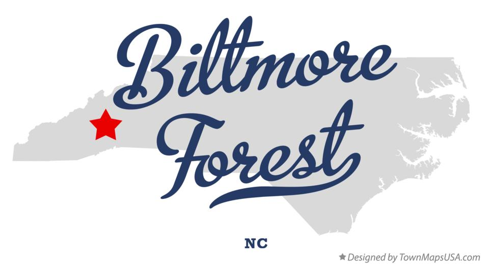 Map of Biltmore Forest North Carolina NC