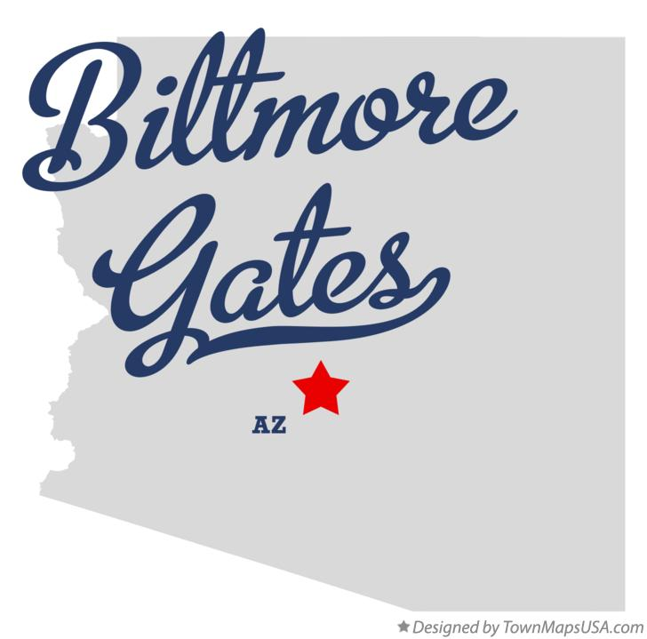 Map of Biltmore Gates Arizona AZ