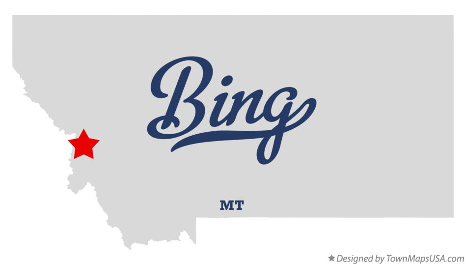 Map of Bing Montana MT