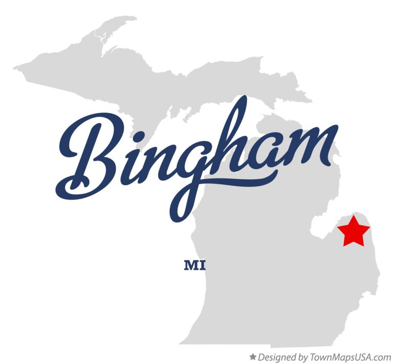Map of Bingham Michigan MI