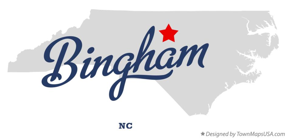 Map of Bingham North Carolina NC