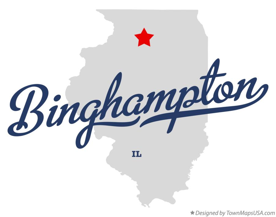 Map of Binghampton Illinois IL