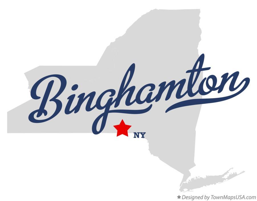 Map of Binghamton, NY, New York