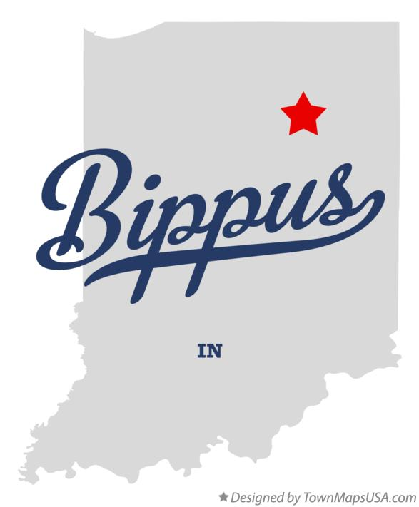 Map of Bippus Indiana IN