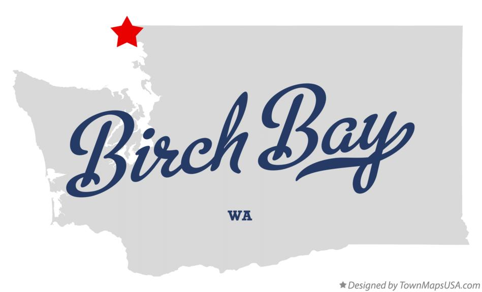 Map of Birch Bay Washington WA