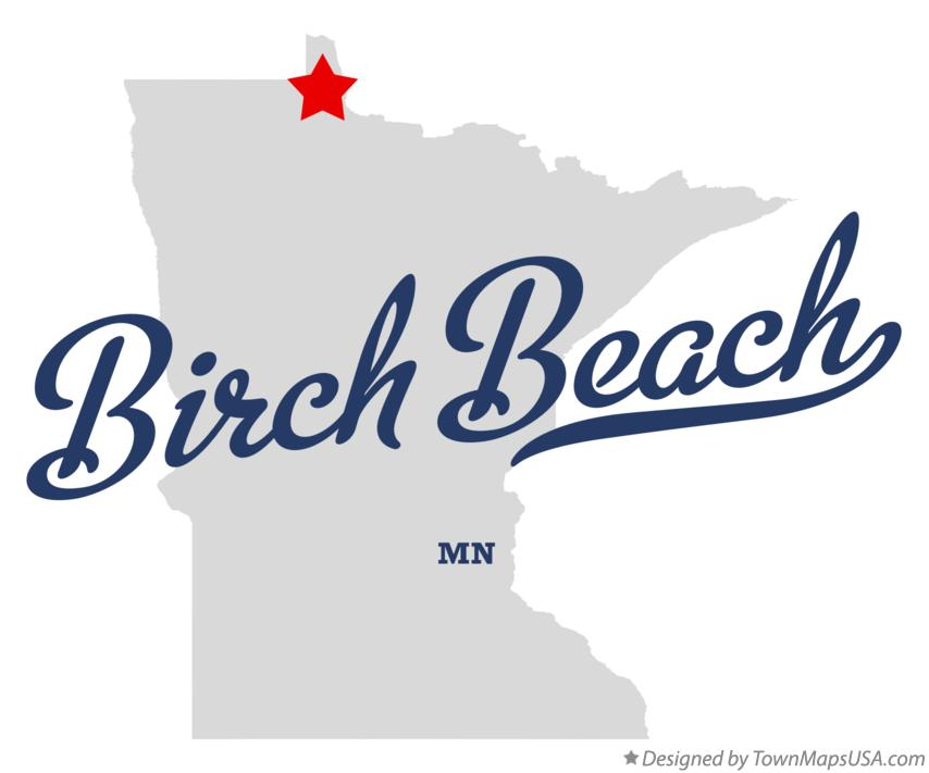 Map of Birch Beach Minnesota MN