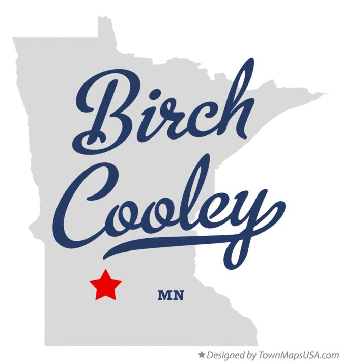 Map of Birch Cooley Minnesota MN
