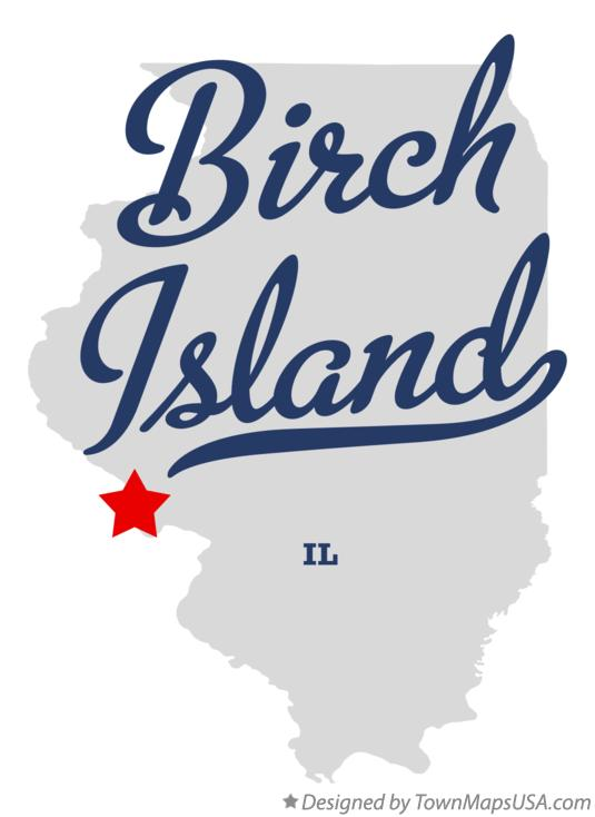 Map of Birch Island Illinois IL